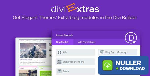 Divi Extras v1.1.5 - Extra Theme Blog Modules Added To Divi Builder