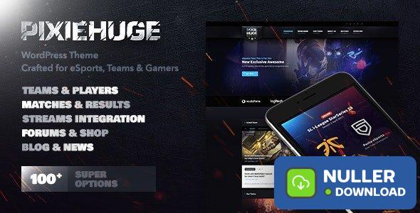 PixieHuge v1.1.7 - eSports Gaming Theme For Clans & Organizations
