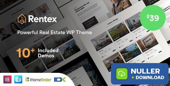Rentex v1.5.8 - Real Estate WordPress Theme