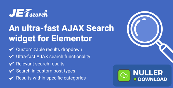 JetSearch v2.1.2 - AJAX Search widget for Elementor