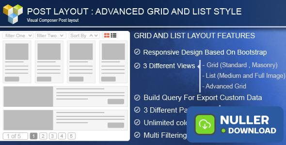 Advance Post Grid/List with custom filtering for VC v4.0