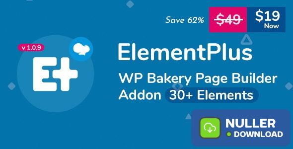 Element Plus v1.1.0 - WPBakery Page Builder Addon (Formerly Visual Composer)