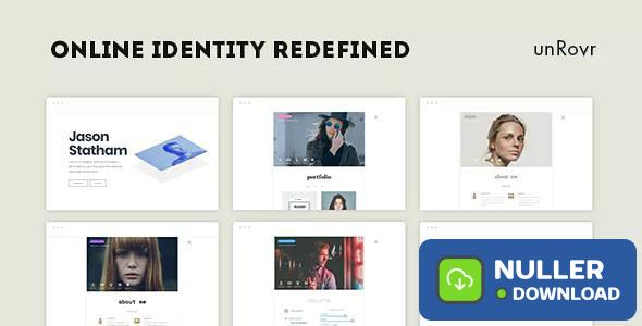 unRovr v1.0.7 - Animated vCard & Resume WordPress Theme