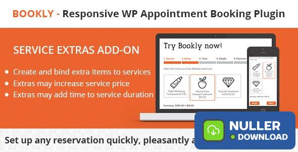 Bookly Service Extras (Add-on) v2.9