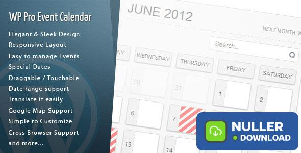 WordPress Pro Event Calendar v3.0.6