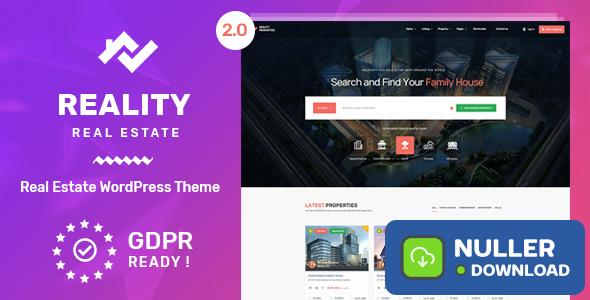 Reality v2.5.6 - Real Estate WordPress Theme