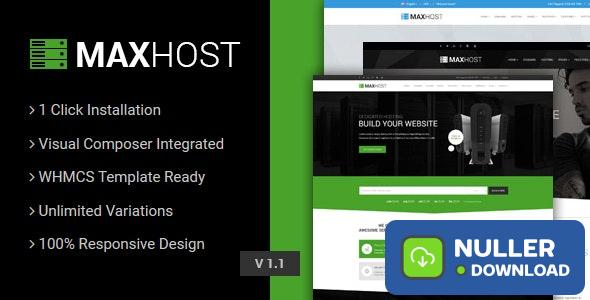 MaxHost v5.1 - Web Hosting, WHMCS and Corporate Business WordPress Theme with WooCommerce