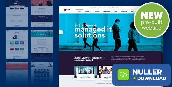 Nanosoft v1.1.11 - WP Theme for IT Solutions and Services Company