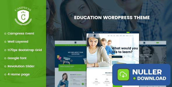 Campress v1.16 - Responsive Education, Courses and Events