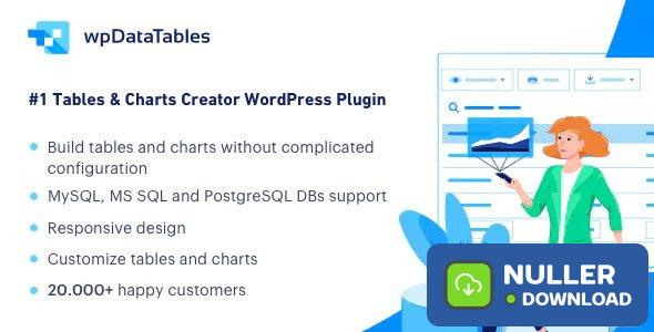 wpDataTables v3.0.4 - Tables and Charts Manager for WordPress
