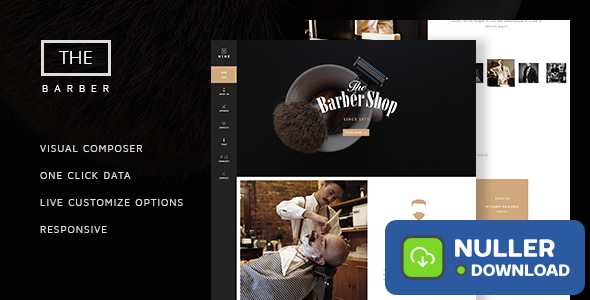 The Barber Shop v1.8 - One Page Theme For Hair Salon