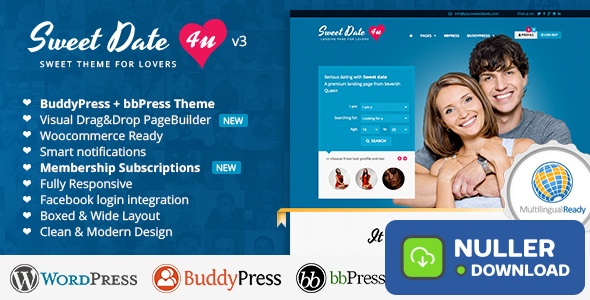 Sweet Date v3.5.1 - More than a Wordpress Dating Theme