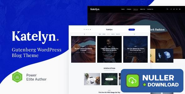 Katelyn v1.0.5 - Creative Gutenberg Blog WordPress Theme