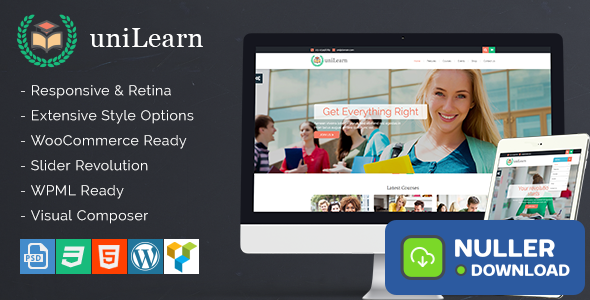UniLearn v1.2.1 - Education and Courses WordPress Theme