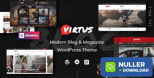 Virtus v1.1.0 - Modern Blog & Magazine WordPress Theme