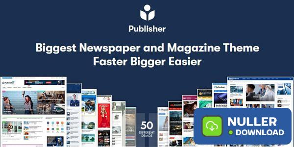 Publisher v7.7.0 - Newspaper Magazine AMP