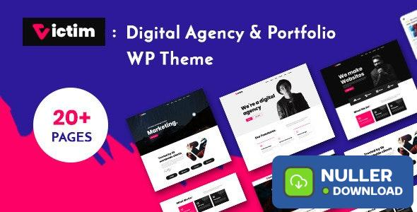 Victim v1.0.0 - Digital Agency & Portfolio WordPress Theme