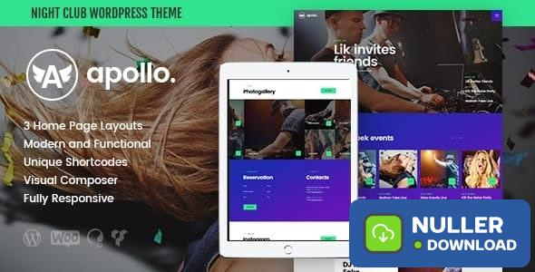 Apollo v1.3.2 - Night Club, DJ Concert & Music Event WordPress Theme