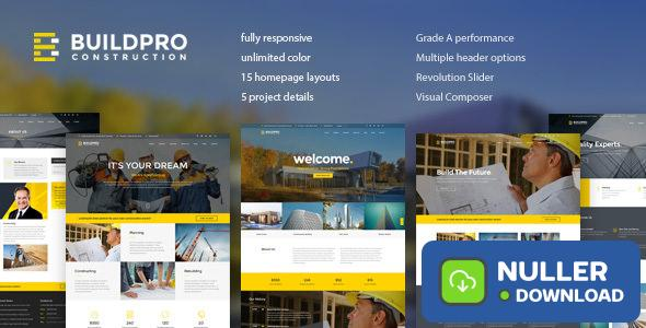 BuildPro v1.0.9.2 - Business, Building & Construction Theme