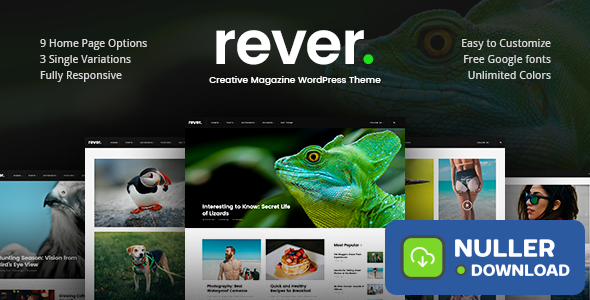 Rever v1.0.2 - Clean and Simple WordPress Theme