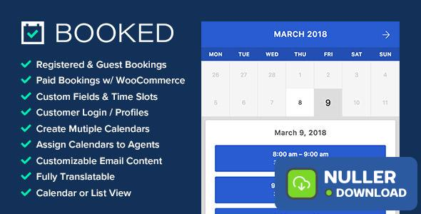 Booked v2.2.6 - Appointment Booking for WordPress
