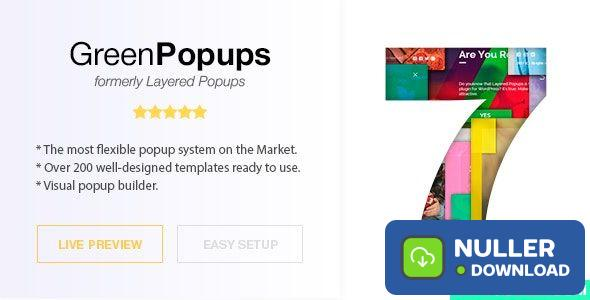 Green Popups (formerly Layered Popups) v7.05 - Standalone Popup Script