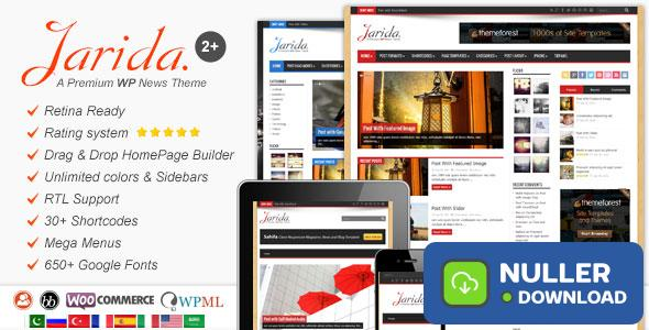 Jarida v2.4.8 - Responsive WordPress News, Magazine, Blog