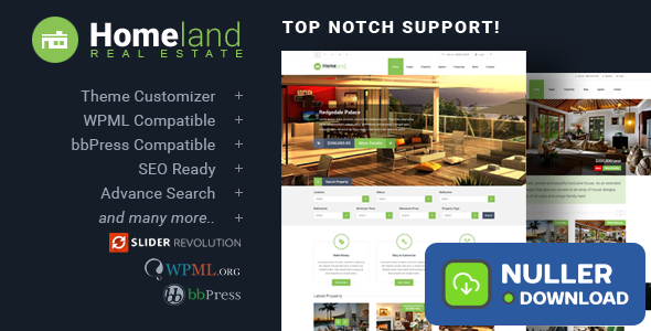 Homeland v3.3.1 - Responsive Real Estate Theme
