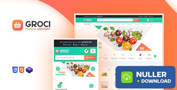 Groci v1.3 - Organic Food and Grocery Market Theme