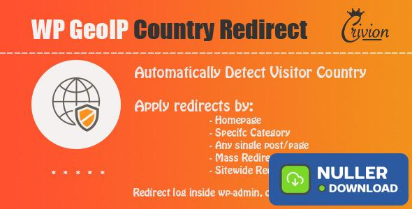 WP GeoIP Country Redirect v3.3