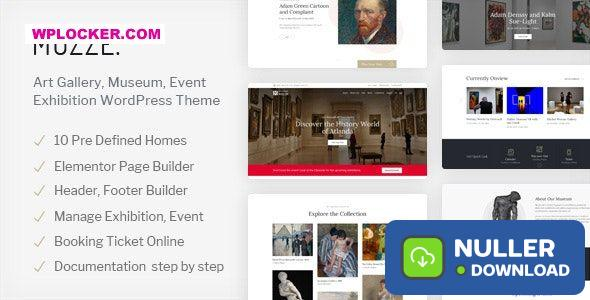 Muzze v1.2.5 - Museum Art Gallery Exhibition WordPress Theme