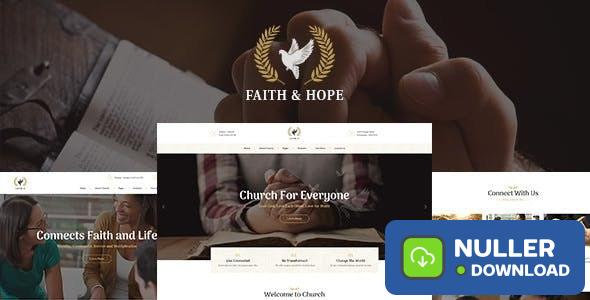 Faith & Hope v1.2.2 - A Modern Church & Religion Non-Profit WordPress Theme