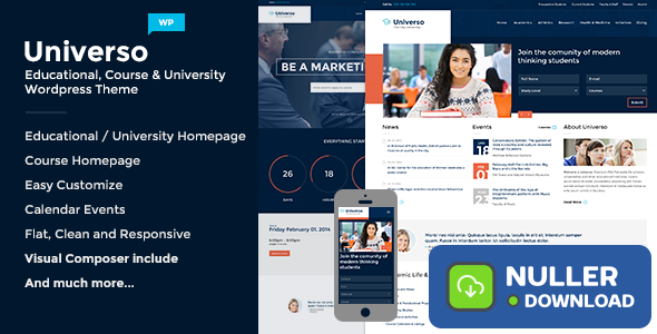 Universo v2.1.1 - Powerful Education, Courses & Events