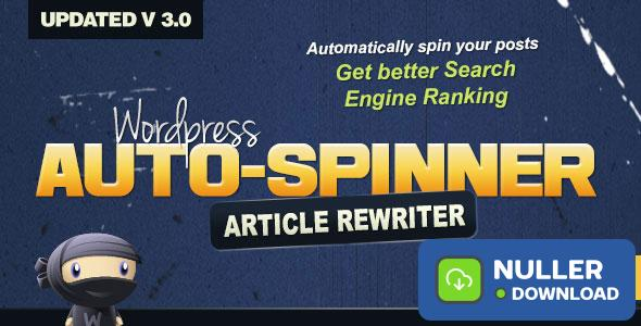 Wordpress Auto Spinner v3.7.4 - Articles Rewriter