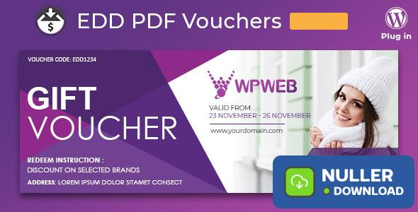 Easy Digital Downloads - PDF Vouchers v2.0.17
