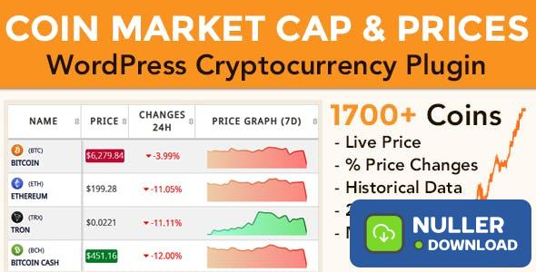 Coin Market Cap & Prices v3.9.1 - WordPress Cryptocurrency Plugin
