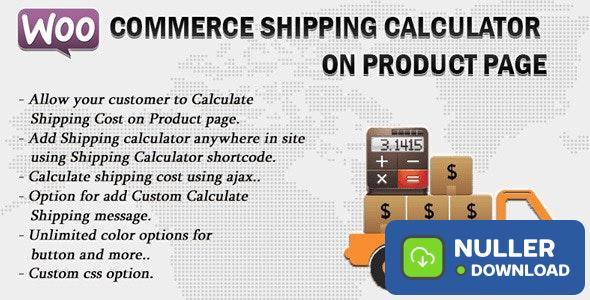 Woocommerce Shipping Calculator On Product Page v2.1