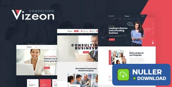 Vizeon v1.0.1 - Business Consulting WordPress Themes