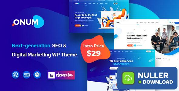 Onum v1.1.9 - SEO & Marketing Elementor WordPress Theme