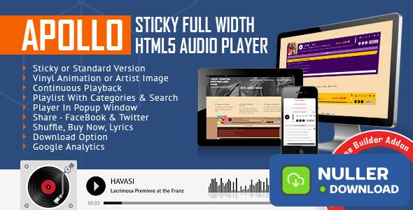 Apollo v2.1.0 - Audio Player for WPBakery Page Builder