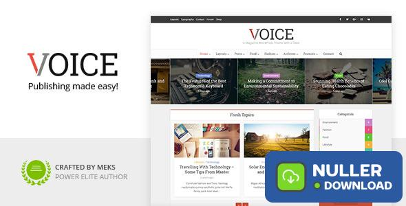 Voice v2.9.6.6 - Clean News/Magazine WordPress Theme
