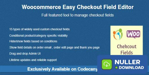 Woocommerce Easy Checkout Field Editor v1.9.5