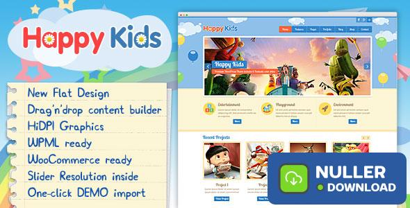 Happy Kids v3.5.2 - Children WordPress Theme