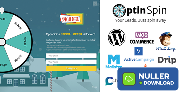 OptinSpin v2.1.6 - Fortune Wheel Integrated With WordPress