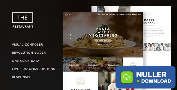 The Restaurant v1.4 - Restauranteur and Catering One Page Theme