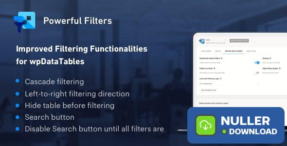 Powerful Filters for wpDataTables v1.1