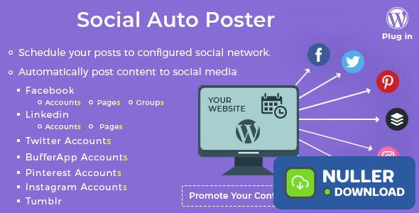 Social Auto Poster v3.2.1 - WordPress Plugin