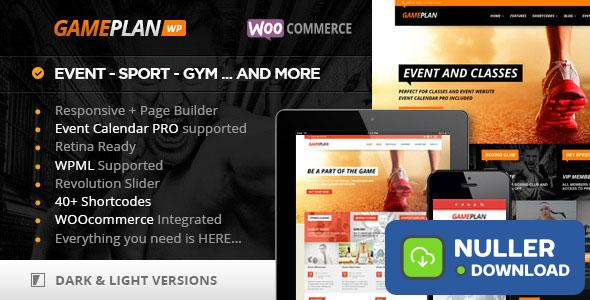 Gameplan v1.5.18 - Event and Gym Fitness Theme