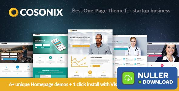 Cosonix v4.0.1 - One-Page Theme for eBook, App and Agency