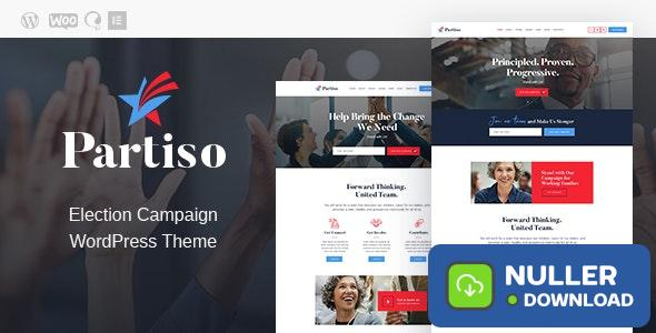 Partiso v1.1.1 - Political WordPress Theme for Party & Candidate